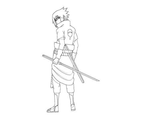 sasuke uchiha coloring coloring pages