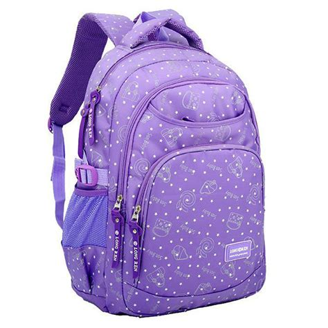 primary school students nylon backpack multi pocket large