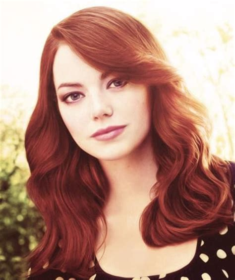 list of actresses with aubern hair emma stone stones and hair on pinterest