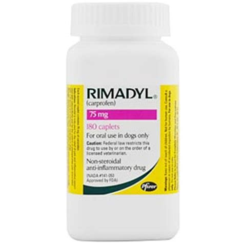 rimadyl 75mg for dogs rimadyl carprofen 75mg 180 caplets