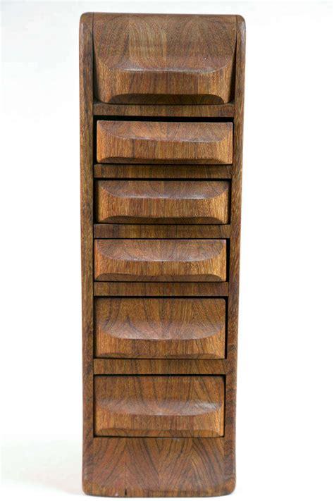 multi drawer organizer mid century multi drawer wood organizer at 1stdibs