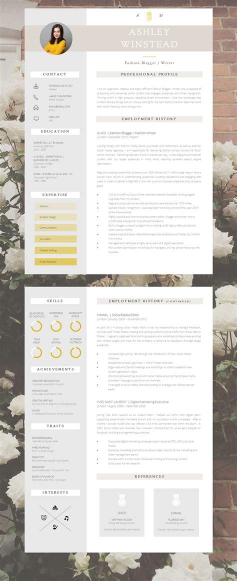 creative cv template pages 43 modern resume templates guru