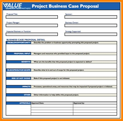6 Simple Business Case Templates Nanny Resumed Simple Use Template