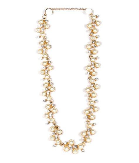 beige color designer pearl necklace buy beige color designer pearl necklace
