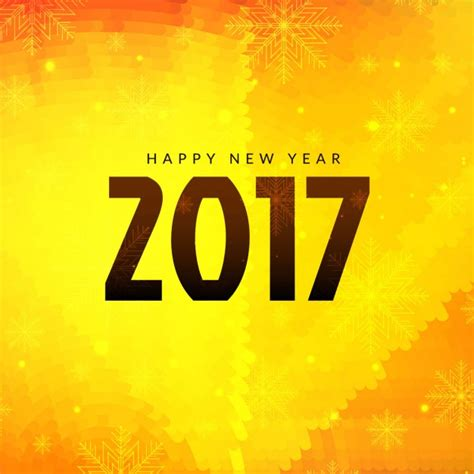 bright yellow new year 2017 background vector free download