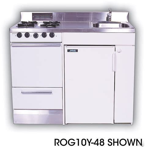 compact kitchen appliances acme roe compact kitchen with stainless steel countertop