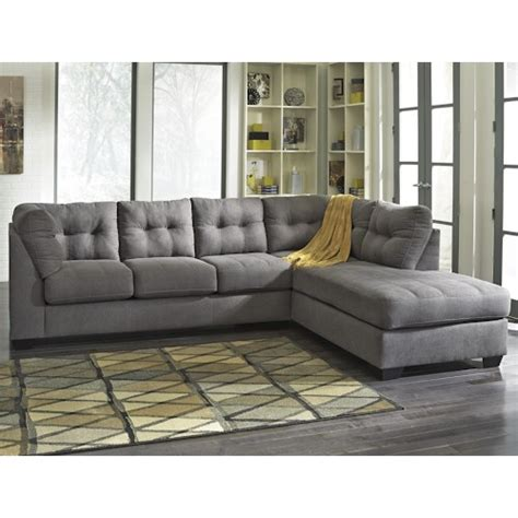 benchcraft maier charcoal 2 sectional w sleeper