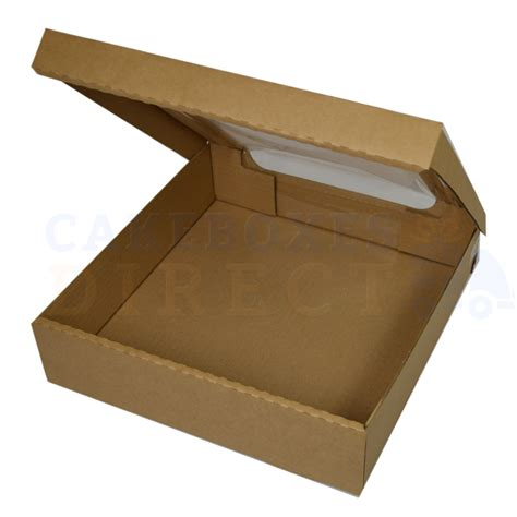 boxes with windows 11 5 x 11 5 x 3 window brown corr box cake boxes