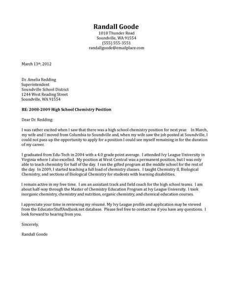 Letter Of Application: General Letter Of Interest For Teaching