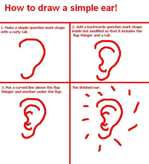 how to make easy doodle how to draw a simple ear by chexapeek on deviantart