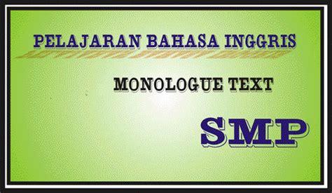 tutorial pelajaran bahasa inggris pelajaran bahasa inggris smp monologue text free just 4