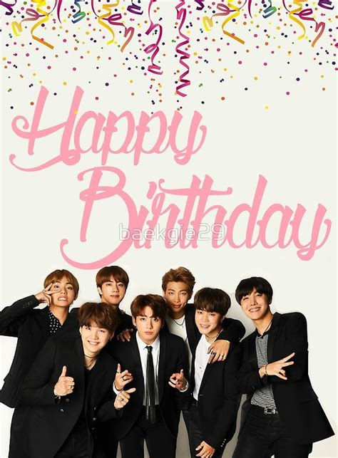 Bts Birthday | quot bts birthday card quot greeting cards by baekgie29 redbubble