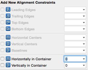 auto layout align menu xcode use auto layout to position button near the center
