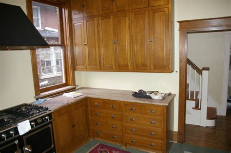 quarter sawn white oak kitchen cabinets quarter sawn oak kitchen traditional kitchen st