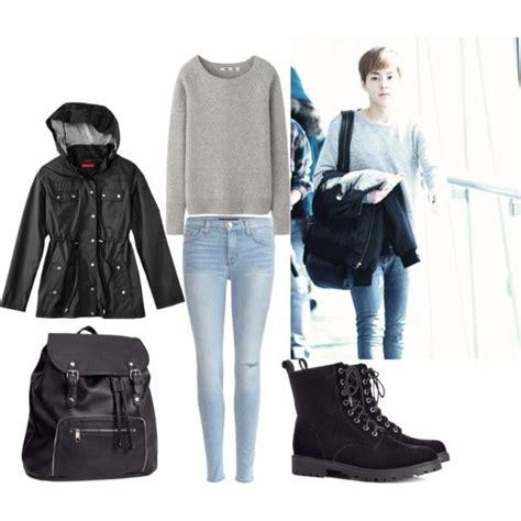 Kaos Exo Boy Clothing exo airport fashion xiumin inspired by