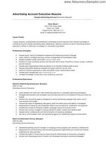 Accounts Executive Resume Sample Account Executive Resume Regarding Advertising Account Manager Resume