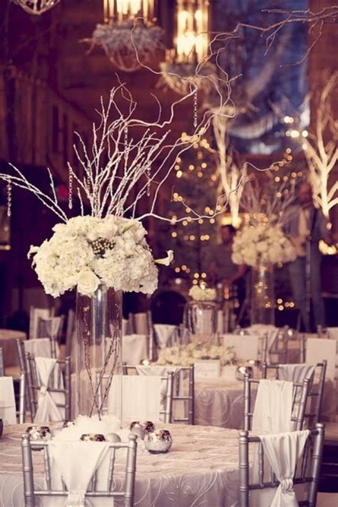 Winter Wedding Decoration - picture of winter wedding table decor ideas