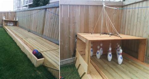 diy backyard bowling alley home design garden