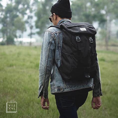 Visval Raga Brown Tas Ransel Backpack Laptop Branded Keren Bagus jual visval raga tas ransel backpack laptop city light