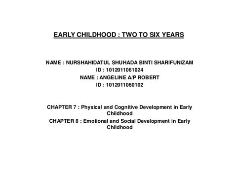 4 major signs of physical development in early childhood physical