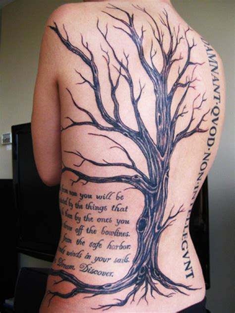 tattoo back tree 50 awesome tree tattoo designs