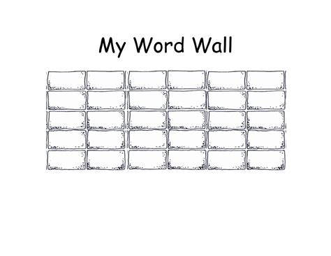 personal word wall printable template pictures to pin on