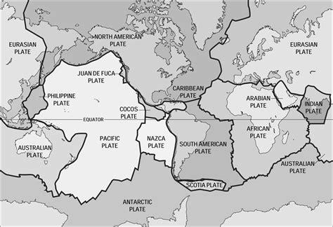 tectonic plate map buffingtonworldgeography september 2010