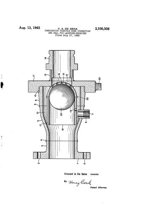 Patent US3100308 - Combination flexible hose connection
