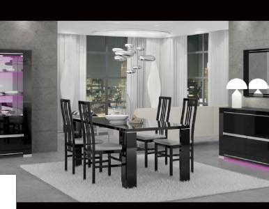 black lacquer dining room set armonia glossy black lacquer dining room set made in italy