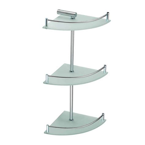 3 Tier Glass Shelf by 3 Tier Corner Temper Glass Shelves Stainless Steel