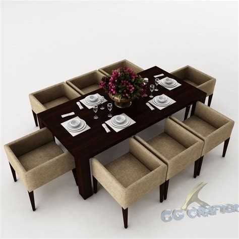 3d dining table dining table set 43 3d model max obj 3ds fbx cgtrader