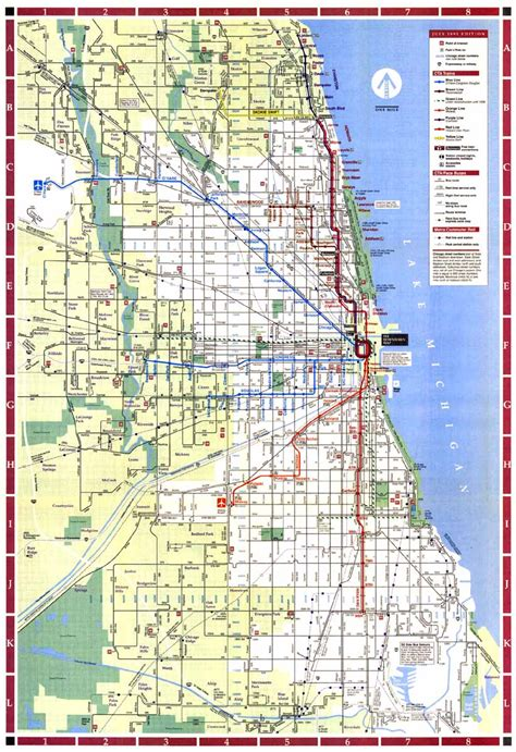 chicago map for subway chicago map