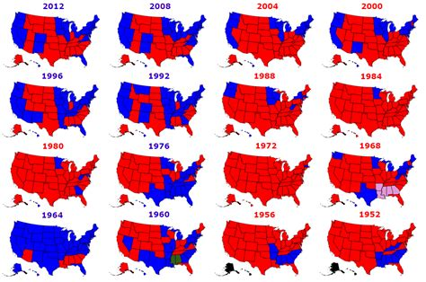 us presidential election results history map presidential elections used to be more colorful metrocosm