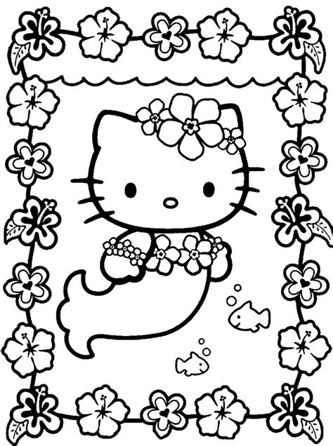 hello kitty coloring pages online coloring home