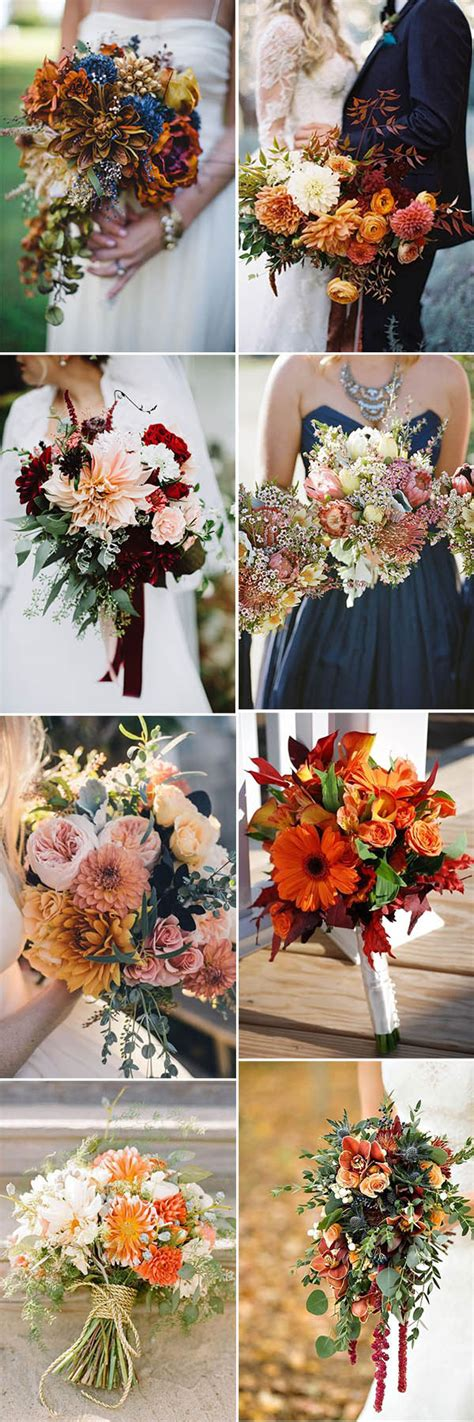 Wedding Bouquet Ideas For Fall by Fall In With These 50 Great Fall Wedding Ideas