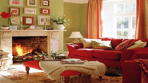 bedroom feature wall colours red  green living room