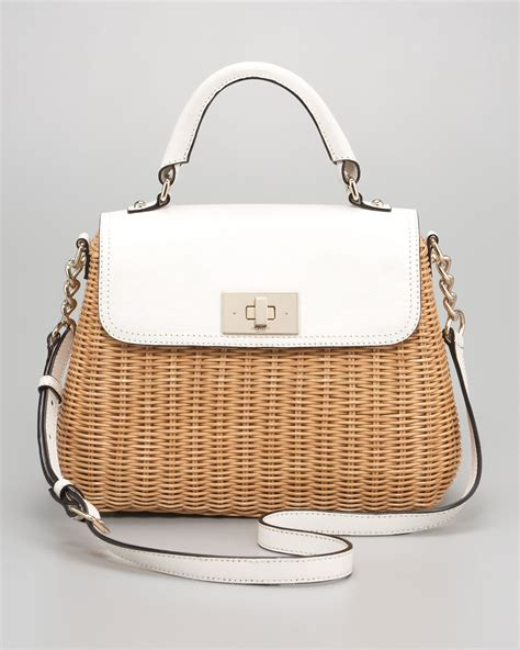 Kate Spades Wicker Clutches And Satchels by Lyst Kate Spade New York Nadine Wicker Satchel In