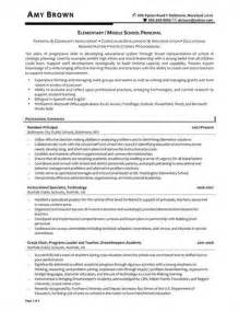 Resume Templates For School Principal Sle Assistant Principal Resume