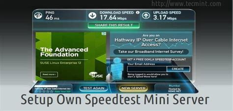 mini speed test setup your own quot speedtest mini server quot to test