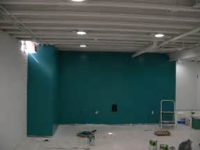 painted basement ceiling basement ideas