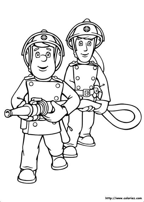 coloriage coloriage sam le pompier la lance 224 incendie