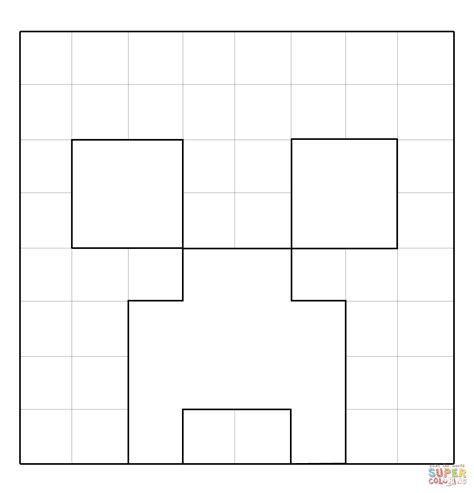 minecraft creeper face  minecraft coloring page