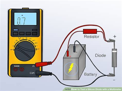 multimeter diode test symbol 3 ways to test a silicon diode with a multimeter wikihow