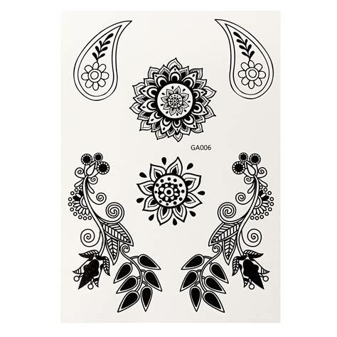 henna tattoo transfers 1pc transfer temporary white black henna lace flash