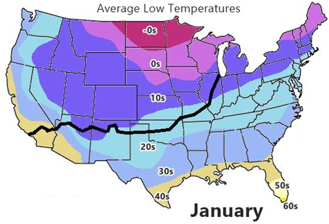 average temperature map usa january weather on route 66