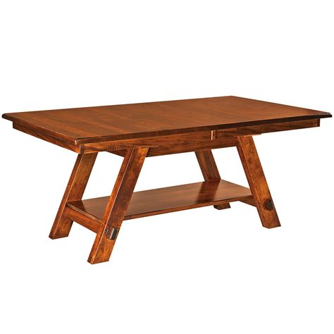 Handmade Trestle Dining Table - trestle dining table design oak dining table extension