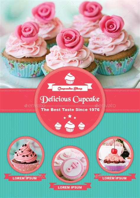 cupcake menu template bifold cupcake menu template by avindaputri graphicriver