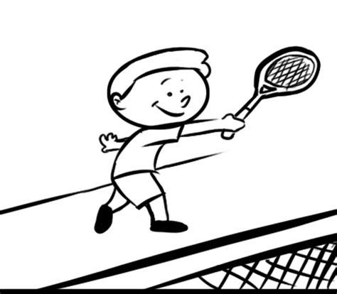dibujos niños jugando tenis ni 241 o jugando al tenis dibujos para colorear caricatura