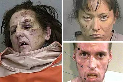 meth images shocking before and after pictures horrors of meth