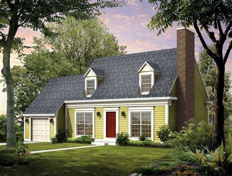 cape cod cottage plans cape cod house style with garage designed with green wall